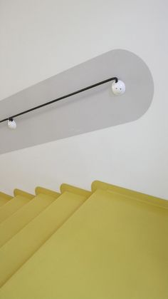 Concrete Stairs, Concrete Floors, Linolium, Yellow Stairs, Cabinet Medical, Checkerboard Floor, Bauhaus Design, Linoleum Flooring, Basement Stairs