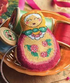 Russian doll tape measure as featured in Cross Stitcher magazine issue 301 (Feb 2016)