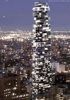 56 Leonard Street Tower, New York City by Herzog de Meuron Architects :: 60 floors