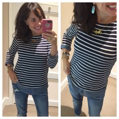 LOVE LOVE LOVE this striped and layered top!