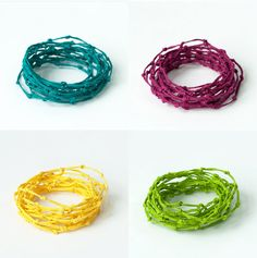 KNOT Bracelets made of Paper Twine by by PaperPhine