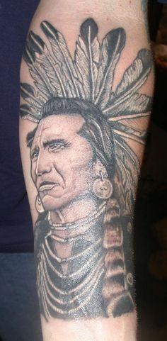 70 Native American Tattoo Designs Art and Design Native American Warrior Tattoos, Native Indian Tattoos, American Indian Tattoos, Native American Symbols, American Indians, Forearm Tattoos, Body Art Tattoos, Portrait Tattoos, Head Tattoos
