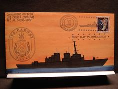 USS CARNEY DDG-64 Naval Cover 1996 ROGAK Hand-Painted COMMISSIONED Cachet