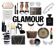"""""""Glamour!"""" by madeleine-wilkinson ❤ liked on Polyvore featuring Chanel, Bobbi Brown Cosmetics, Topshop, Louis Vuitton, Givenchy, Casadei, Dolce&Gabbana, Victoria Beckham, Lord & Berry and Tory Burch"""