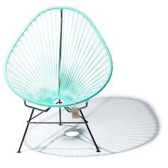 Fair Furniture Acapulco Stoel 75 cm - Licht Turquoise - afbeelding 1