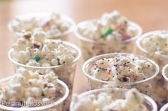 Birthday Cake Flavored Pop Corn for schools with the no Cup Cake Rule! Click the pic for the recipe.