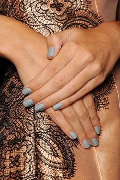 50 Shades Of Style - Style Estate - Lela Rose Spring 2014 nail color—Grey. http://blog.styleestate.com/style-estate-blog/50-shades-of-style.html