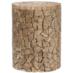 Safavieh Bali Teak Chips Round Stool - Overstock™ Shopping - Great Deals on Safavieh Coffee, Sofa & End Tables