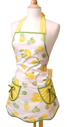 Lemon-Lime Apron: This reminds me of my Mom because her kitchen had lemon & lime wallpaper when I was a little girl.