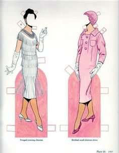 Christian Dior - Miss Missy Paper Dolls: Classic Fashions of Christian Dior for Renee and Lisa #14