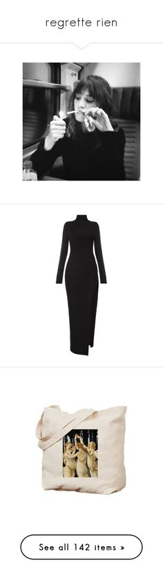 """""""regrette rien"""" by haomind ❤ liked on Polyvore featuring pictures, photos, backgrounds, pics, people, filler, dresses, long sleeve body con dress, body con dresses and turtleneck dress"""