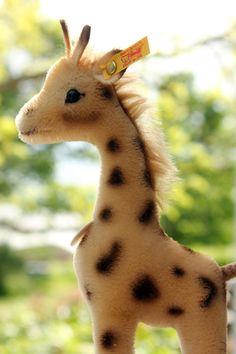 Suomenlinna Toy Museum Shop. Giraffe, made by Steiff, Germany.