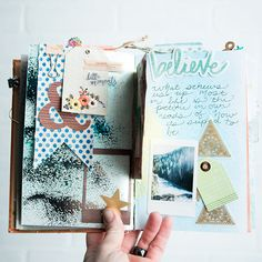 use your Cricut to cut embellishments for your mixed media journal pages Art Journal Inspiration, Journal Ideas, Envelope Book, Watercolor Books, Paint Types, Mixed Media Journal, Creative Journal, Cricut Explore, Art Journals