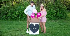 Warrensburg Missouri couple Kennedy Sartwell and Jake Terry recently adopted a new puppy named Raven. In order to announce Raven to family and friends, they had a gender-reveal photo shoot. Rainbow Baby Announcement, Birth Announcement Girl, Dog Birth, Gender Reveal Photos, Birth Photos, Couple, New Puppy, Dog Photos, Rescue Dogs