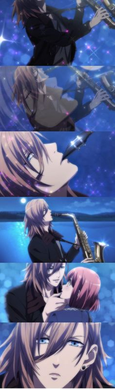 Ren Jinguji - playing his saxophone (Uta no Prince sama)