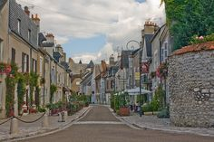 Picturesque old town of Beaugency in Loire Valley, France