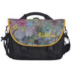 Rockin Rickshaw FLORAL ART laptop Bag-  Rokinronda