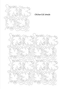 Chicken all over computerized digitized quilting pattern