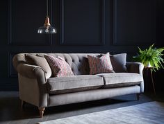 Elegant and curvaceous Sophia has fully deep buttoned interior and deep Extra-life seat cushions and a sprung edge made from premium British steel. Turned hardwood legs available with a limed finish. Large Sofa Cushions, Large Sofa Bed, Seat Cushions, British Steel, Elegant Sofa, Luxury Sofa, Sofa Sale, Sofa Covers, Traditional Design