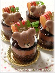 jackie bear macaron cocoa cake♡