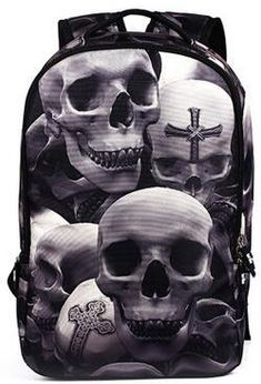 3D Skull School Backpack Men s Backpack be8b002ad9629