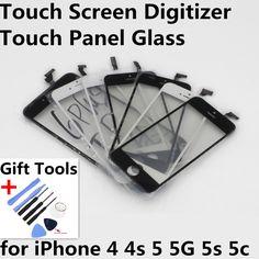 Màn Hình cảm ứng Digitizer Front Hiển Thị Cảm Ứng Panel Glass Lens Màn Hình Cảm Ứng cho iphone 4 4 s 5 5g 5 s 5c công cụ món quà phụ tùng thay thế