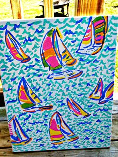 Lilly Pulitzer Inspired CanvasYou Gotta by SouthernErvinLiving, $30.00