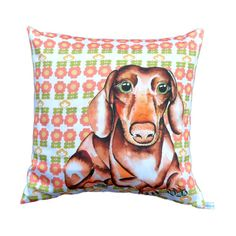 SALE Dachshund dog cushion pillow cover  43 x 43 cm by saranorwood, £36.00
