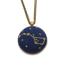 Ursa Major Cross Stitch Necklace #huntersalley