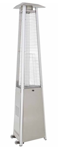 """TFPS Patio Heaters 94"""" Tall Commercial Triangle Glass Tube Heater - Stainless Steel Patio Heater - TFPS-HLDS01-CGTSS Porch Heater, Propane Patio Heater, Best Patio Heaters, Outdoor Heaters, Thing 1, Glass Replacement, Hammered Silver, Door Design, Stainless Steel"""