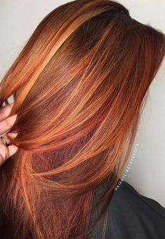 50 copper hair shades that can inspire you - Red Hair - Hair Hair Color Shades, Red Hair Color, Cool Hair Color, Blonde Shades, Red Colour, Ombre Colour, Copper Hair Colors, Copper Color, Spring Hair Colour