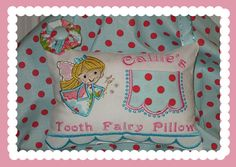 Girl Tooth Fairy Pillow - Callie on Etsy, $21.99