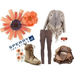 winter outfit with sperry boots! <3