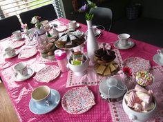High tea party kinderfeestje