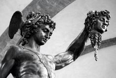 Perseus with the head of Medusa by Benvenuto Cellini.