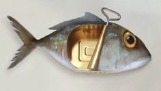 ART GRAFTS 'Canned Fish'  Surreal Contemporary Fine by ArtandGraft