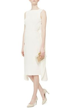 Antonio Berardi - Ivory Sleeveless Midi Dress on Moda Operandi