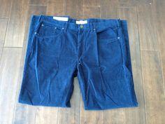 NWT Sonoma Men Straight Fit Blue Corduroy Pants Size 40x32 #Sonoma #Corduroys