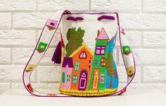 AUTHENTIC LARGE WAYUU Shoulder Purce Hobo Bag Crocheted