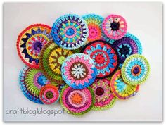 Crocheted circles - with instructions in english