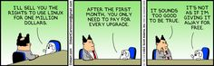 The Dilbert Strip for November 25, 2013 - Buying Linux