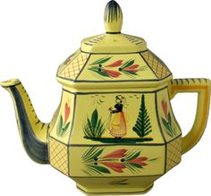 quimper yellow pottery - Google Search