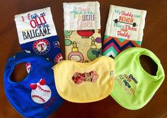 A personal favorite from my Etsy shop https://www.etsy.com/listing/453074284/burp-cloth-set-bib-and-burp-cloth-baby