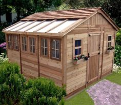 Outdoor Living Today   12 X 12 Sunshed Garden Shed With Dutch Door    Default Title