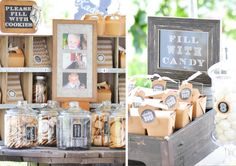rustic baptism decor and refreshments
