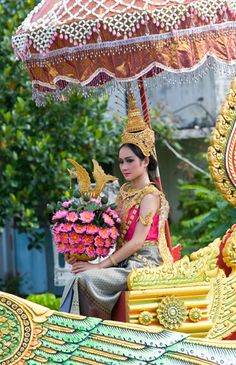 Songkran Queen or also known as Nang Songkran in Thailand