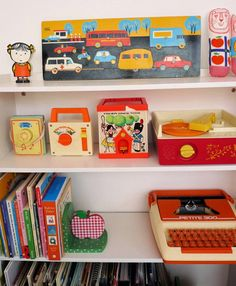 Vintage toys in kids room