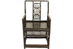 19th-C. Bamboo Scholar's Armchair on OneKingsLane.com