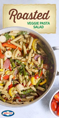 This recipe for Roasted Veggie Pasta Salad has just what you look for in a fresh meal idea. From the BIRDS EYE® Steamfresh® Veggie Made™ Original Zucchini Lentil Pasta and asparagus to the cherry tomatoes and basil dressing, this dish is perfect for whipping up a dinner idea that features everyone's favorite seasonal produce. And by finding everything you need at The Kroger Family of Stores, getting a delicious and healthy dinner on the table just got a lot easier.