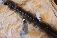 DIY Curtain Rods using electrical conduit - paint with Rustoleum's ORB and seal with Clear Gloss Lacquer.